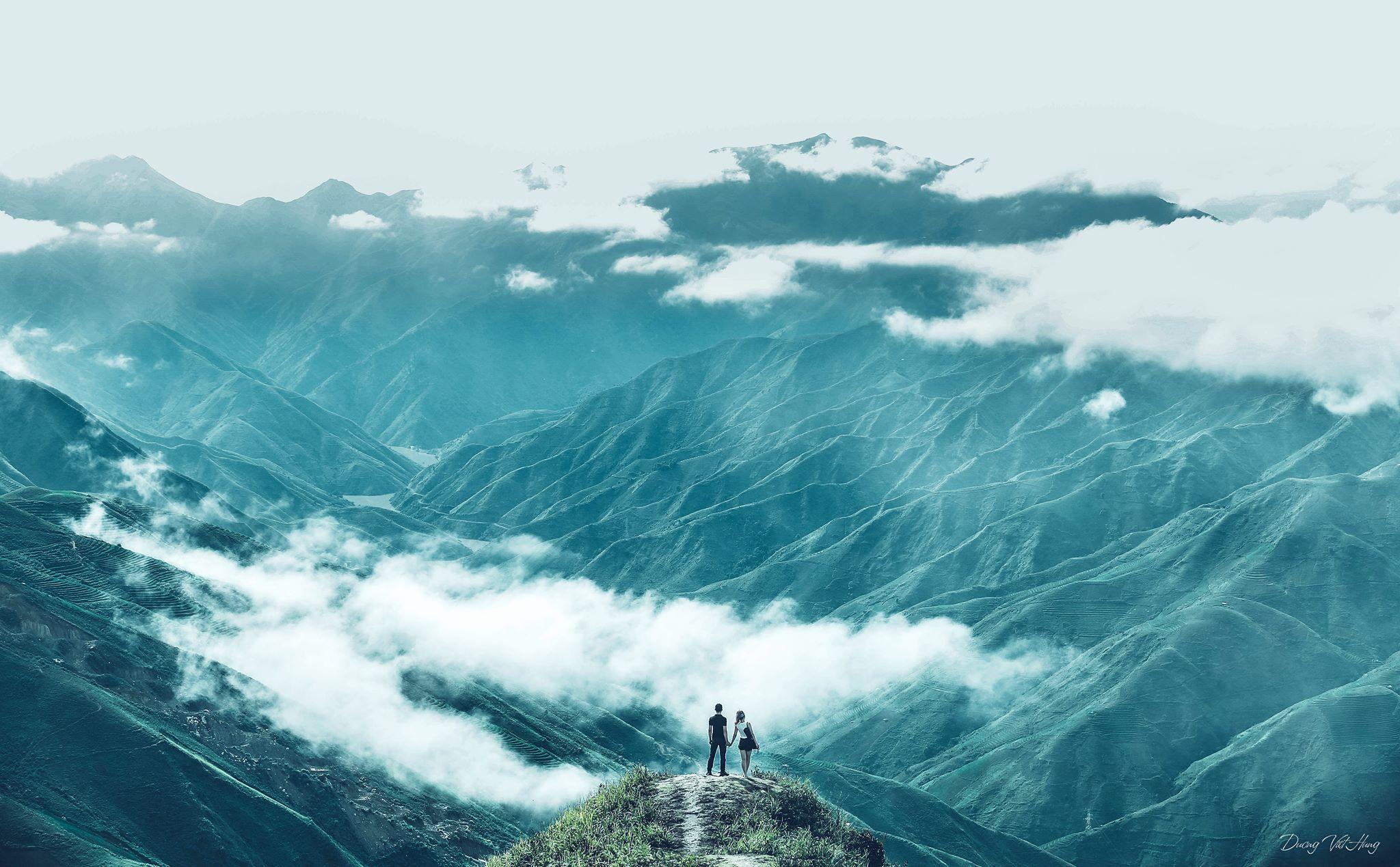 Du lịch Mộc Châu - Núi rừng Mộc Châu hoang sơ, hùng vĩ hiện lên vô cùng sống động. Ảnh: Dương Việt Hưng