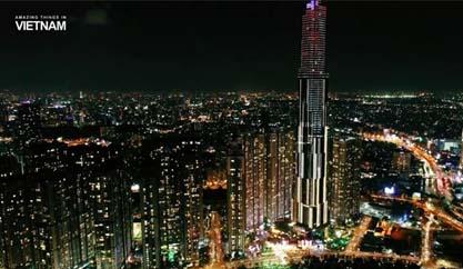 Ngắm nhìn tòa nhà Landmark 81 về đêm