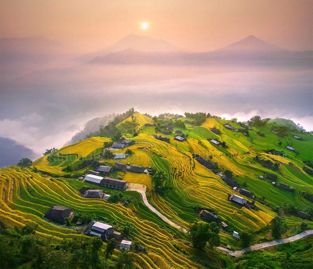 Ha Giang travel- the most beautiful sights in Ha Giang- Hoang Su Phi village, Ha Giang. By: Trần Bảo Hòa