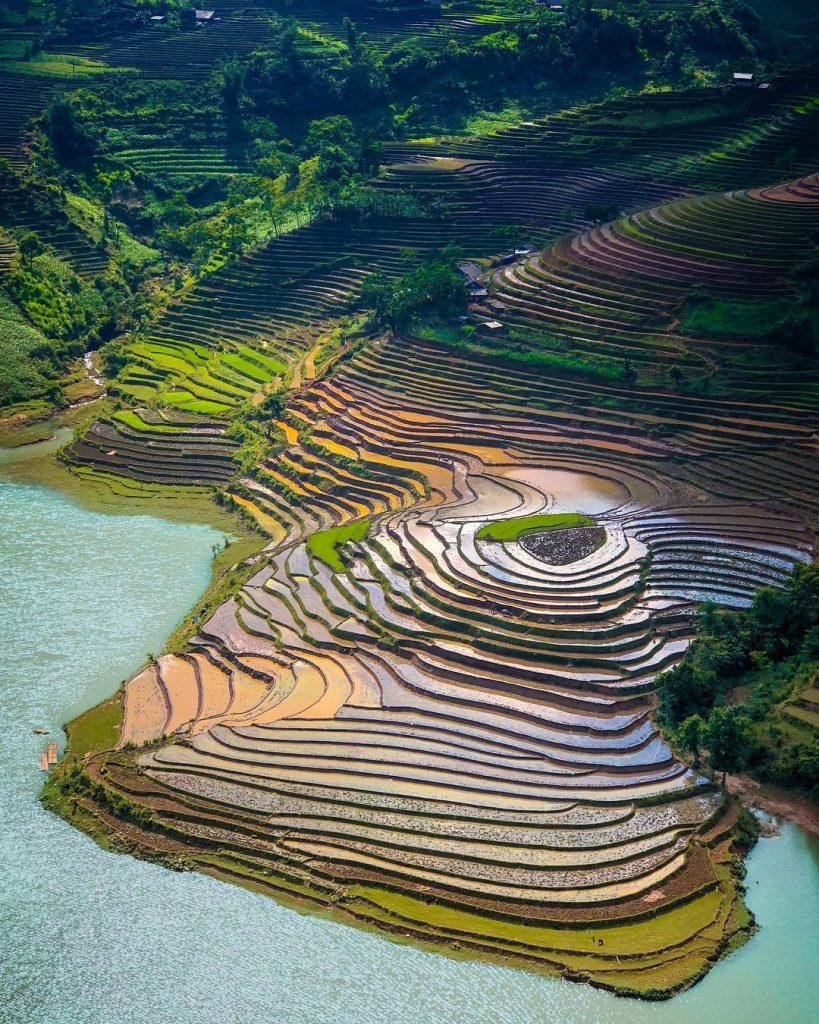 Y Ty- sapa travel- Ruộng bậc thang ở Mường Hum mùa nước đổ. Ảnh: @thanglongsat