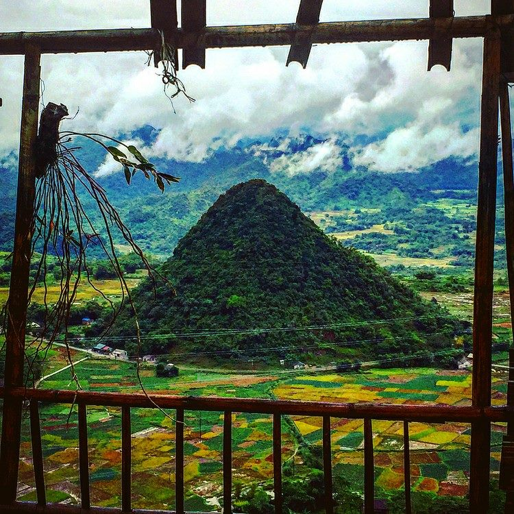 Northern Vietnam travel- beautiful places in Northern Vietnam-Mai Chau is so beautiful from above. By: @bertieedwards