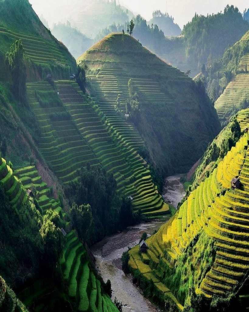 Northern Vietnam travel- beautiful places in Northern Vietnam-This terraced fields is like the step leading to beautiful paradise. By: @tripadvisor