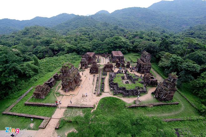 Du lịch miền Trung- Cảnh đẹp miền Trung- điểm đến miền Trung-Thánh Địa Mỹ Sơn lưu giữ hơn 70 công trình kiến trúc đền tháp của nền văn minh Chămpa.