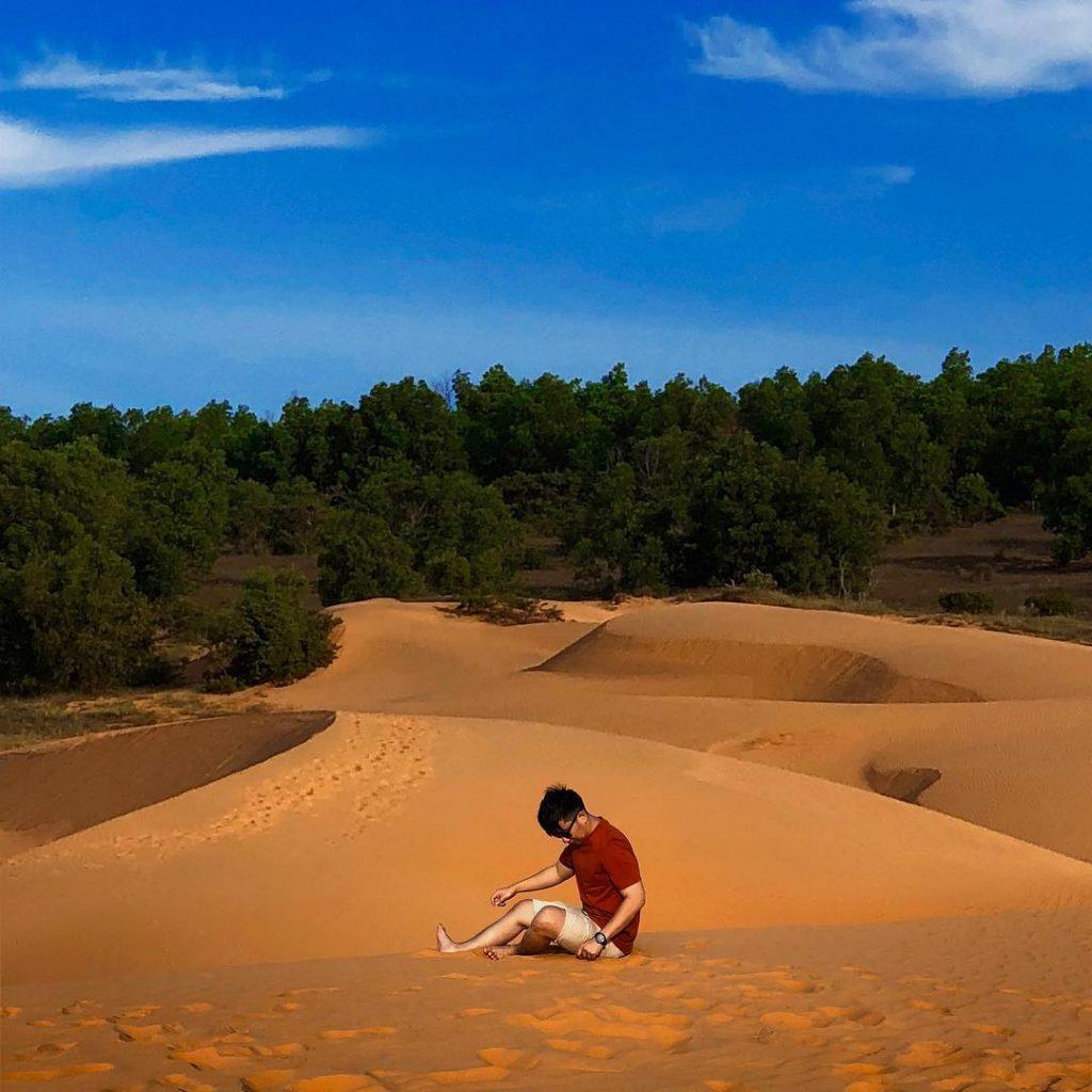 Du lịch miền Trung- Cảnh đẹp miền Trung- điểm đến miền Trung- Đồi Cát Bay, Phan Thiết. Ảnh: @ericchong1990