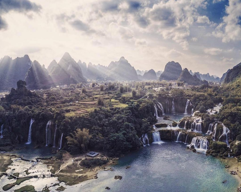 Highland travel- Northwest travel- the beauty of Vietnam-the cliffs of Ban Gioc waterfall are visible and the nature are more pristine and peaceful than ever. By