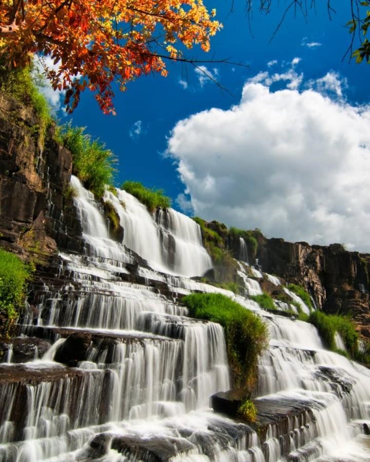 Thác nước ở Việt Nam- Thác nước đẹp ở Việt Nam- Thác Pongour