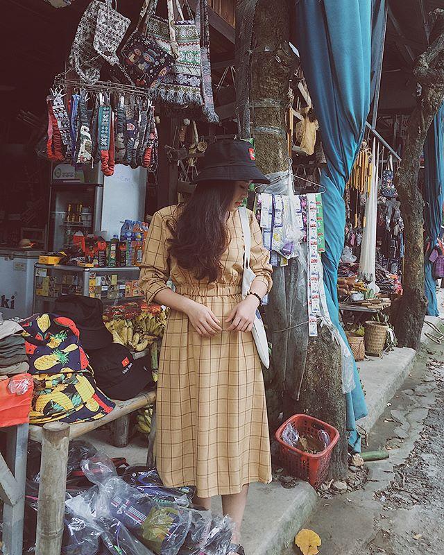 Du lịch Mai Châu - Cảnh đẹp Mai Châu - Quầy hàng lưu niệm của nơi bản Lác Mai Châu. Ảnh: @nigg_97