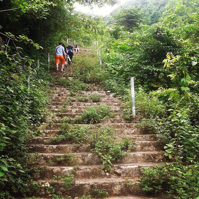 Du lịch Mai Châu - Cảnh đẹp Mai Châu - Để tới Hang Chiều bạn phải chinh phục 1200 bậc thang. Ảnh: @phuthuyheo
