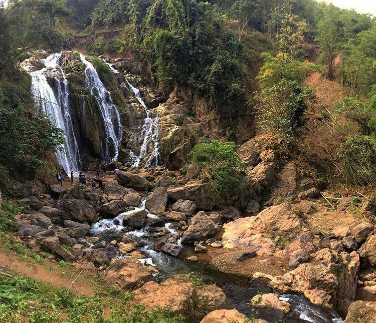 Du lịch Mai Châu - Cảnh đẹp Mai Châu - Thác Gò Lào nơi giao thoa giữa thác và núi rừng. Ảnh: @g_leblanc06