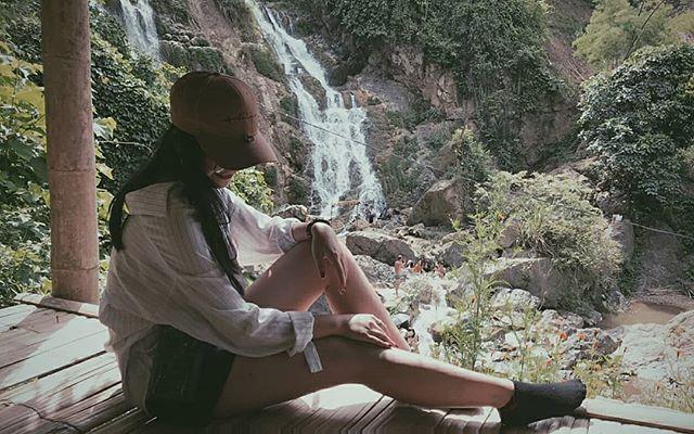 Du lịch Mai Châu - Cảnh đẹp Mai Châu - Thác Gò Lào với thiên nhiên thơ mộng, hoang sơ. Ảnh: @thuysandy98