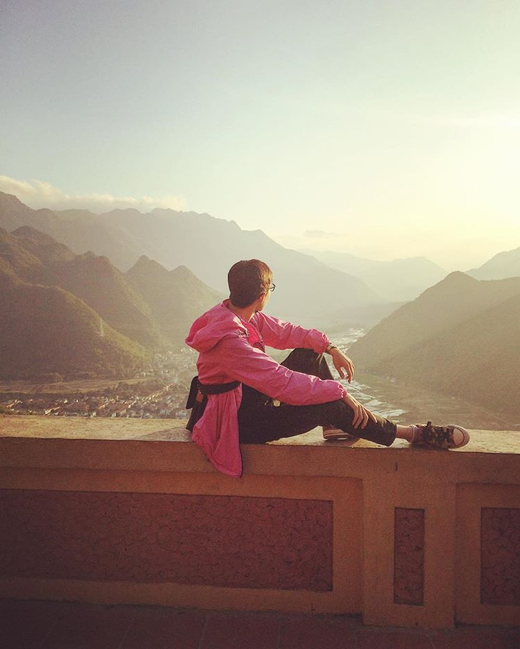 Du lịch Mai Châu - Cảnh đẹp Mai Châu - Ngắm trọn bình minh nơi thung lũng Mai Châu. Ảnh:@quanghuy19
