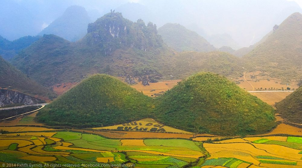 Ha Giang - the most beautiful sights in Ha Giang-Quan Ba Twin Mountain looks like two cherries as an art of nature