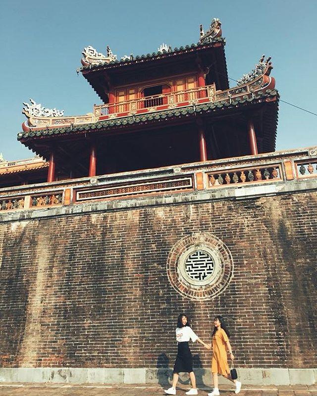 Lầu Ngũ Phụng phía trên cổng Ngọ Môn. Ảnh: @linh_meo99