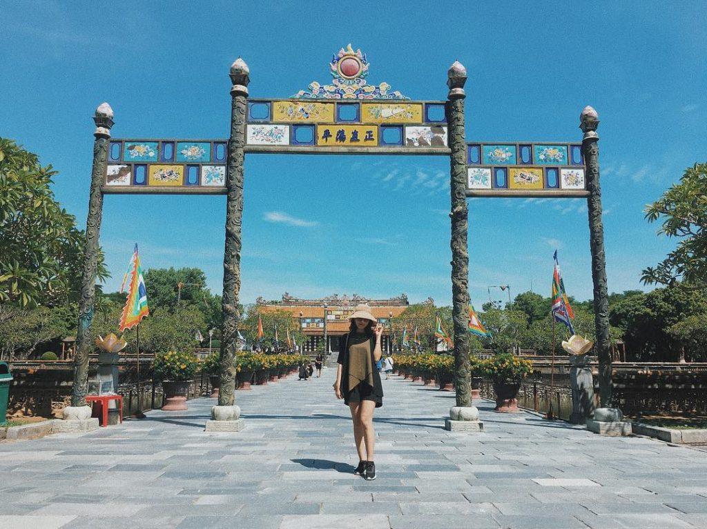 Cổng vào điện Thái Hòa. Ảnh: @__hanguyenn