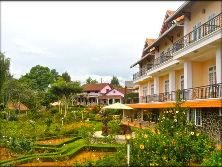 Terrasse des Roses. Location: 35 Cao Bá Quát street, Ward 7, Dalat city. Photo: Collection.
