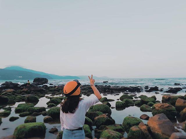Rạn Nam Ô có nhiều rong tảo nên là nơi trú ngụ của nhiều loài cá và hải sản quý. Ảnh: @thanhlam22