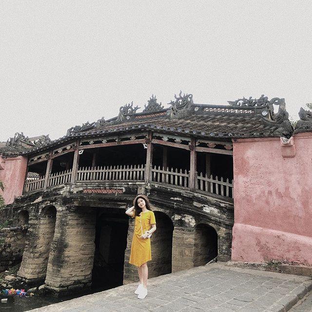 du lịch Hội An - Kinh nghiệm du lịch Hội An - Bí kiếp du lịch Hội An - Chụp vài bức ảnh cực ngầu nơi chùa Cầu Hội An. Ảnh: @anhtram.meraki