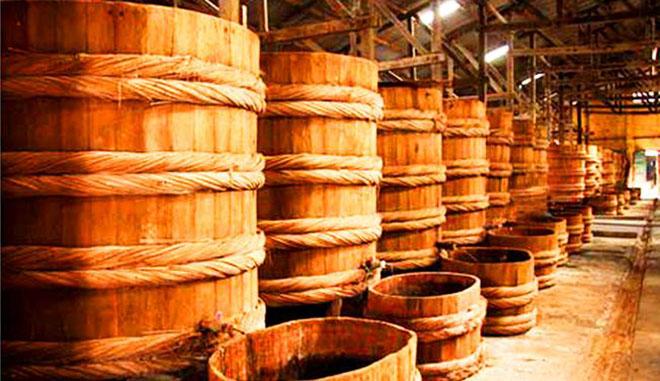 Nhà thùng sản xuất nước mắm Phú Quốc. Ảnh: sưu tầm