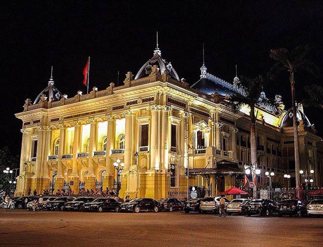 Nhà hát Lớn nơi tổ chức các sự kiện và biểu diễn nghệ thuật của thành phố. Ảnh: @hanoicapital