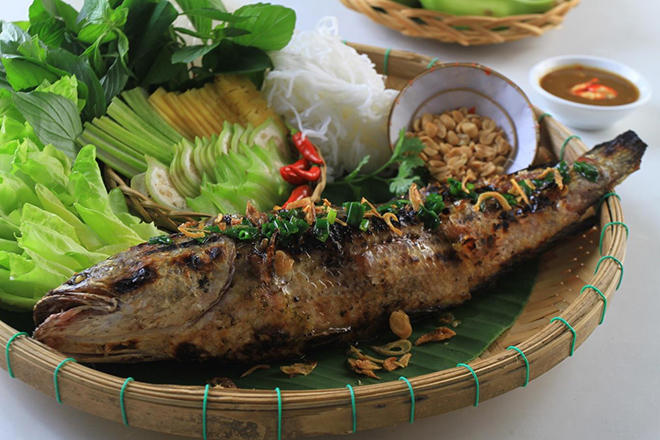 Grilled Snakehead - Can Tho travel guide. Photo: Collection