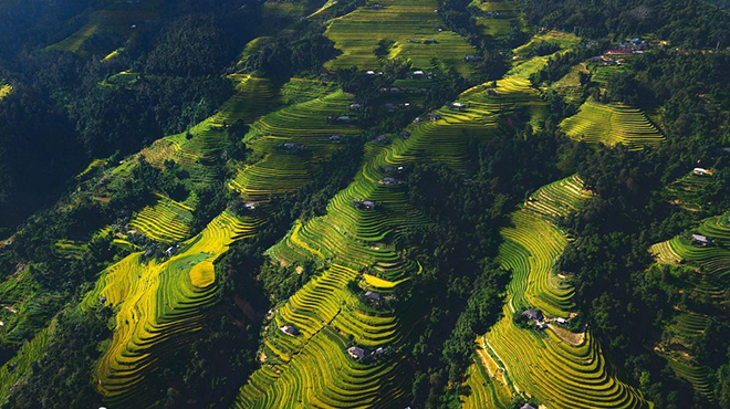 The breathtaking view of terraces fields in Ha Giang. Photo: Anh Nguyen
