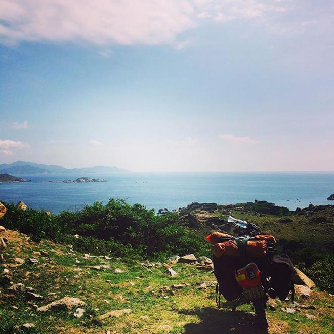 Ngắm cảnh núi non nơi Bãi Thùng. Ảnh: @prince0143