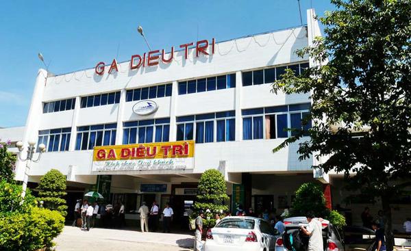 Dieu Tri ( Diêu Trì) station is located in Tuy Phuoc ( Tuy Phước) district, Binh Dinh ( Bình Định) province. Photo: Collection