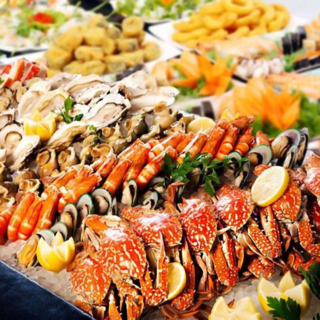 Hải sản tươi ngon đều được bày bán ở hầu hết các nhà hàng, quán ăn ở Vũng Tàu. Ảnh: Sưu tầm