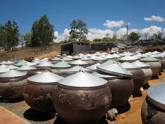 Khu sản xuất nước mắm Phan Thiết truyền thống. Ảnh: Sưu tầm