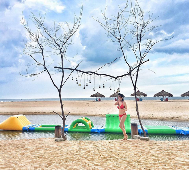 This is a rare beach which has both fresh and salty water. Photo: @mickey.ngan