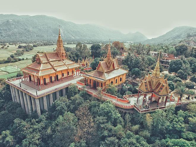 The stunning view of Ta Pa ( Tà Pạ) pagoda, An Giang. Photo: Anh Tuan