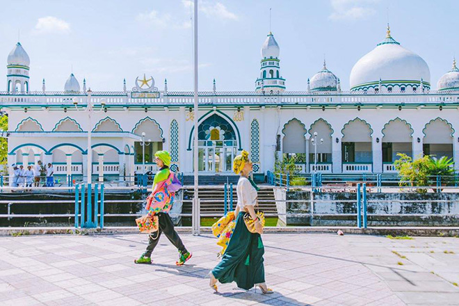 Mubarak mosque is the spiritual symbol of the community. Photo: @langthang.angiang